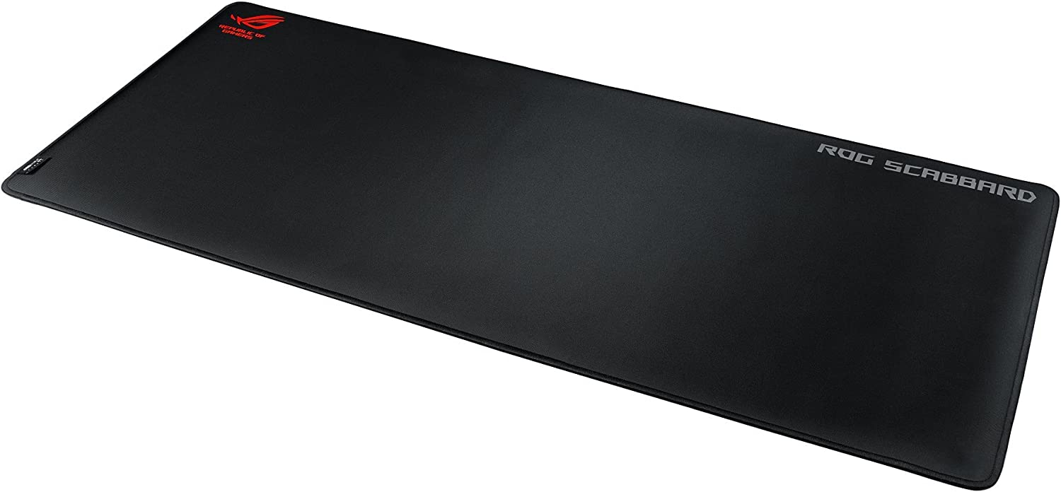 Amazon.com: ASUS ROG Scabbard Extended Gaming Mouse Pad - Splash-Proof,  Stain-Resistant Surface | Responsive Mouse Tracking | Durable Anti-Fray  Stitching | Non-Slip Rubber Base: Computers & Accessories