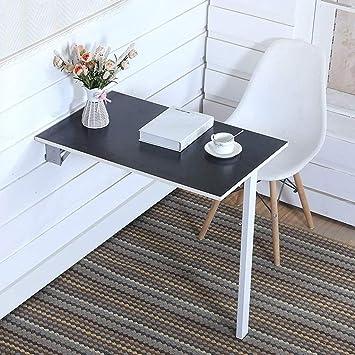 Folding Desk Wandtisch Computertisch, Drop Leaf Kaffee Esstisch Kleine Räume  Klapptisch Schwarz (größe
