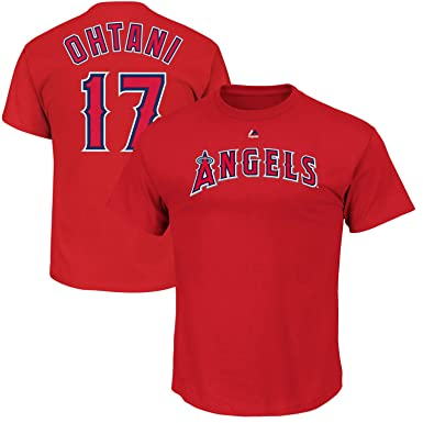 56687f6ab Shohei Ohtani Los Angeles Angels Youth Majestic Red Player Name   Number T- Shirt (