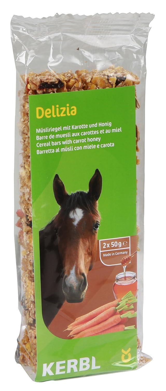 Kerbl Cheval Barre de Céréales Delizia 2x50 g Carotte/Miel Lot de 2 325100