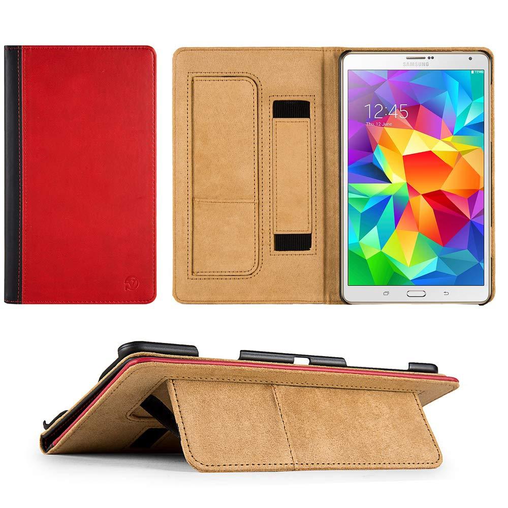 期間限定特別価格 PUレザー 保護用 ポートフライオカバー Size ケース ケース スタンド サムスン Galaxy Tab Tab S 8.4対応 One Size レッド レッド/ブラック B07L9M7FHG, ディーズステーショナリー:1ef7b3e3 --- a0267596.xsph.ru