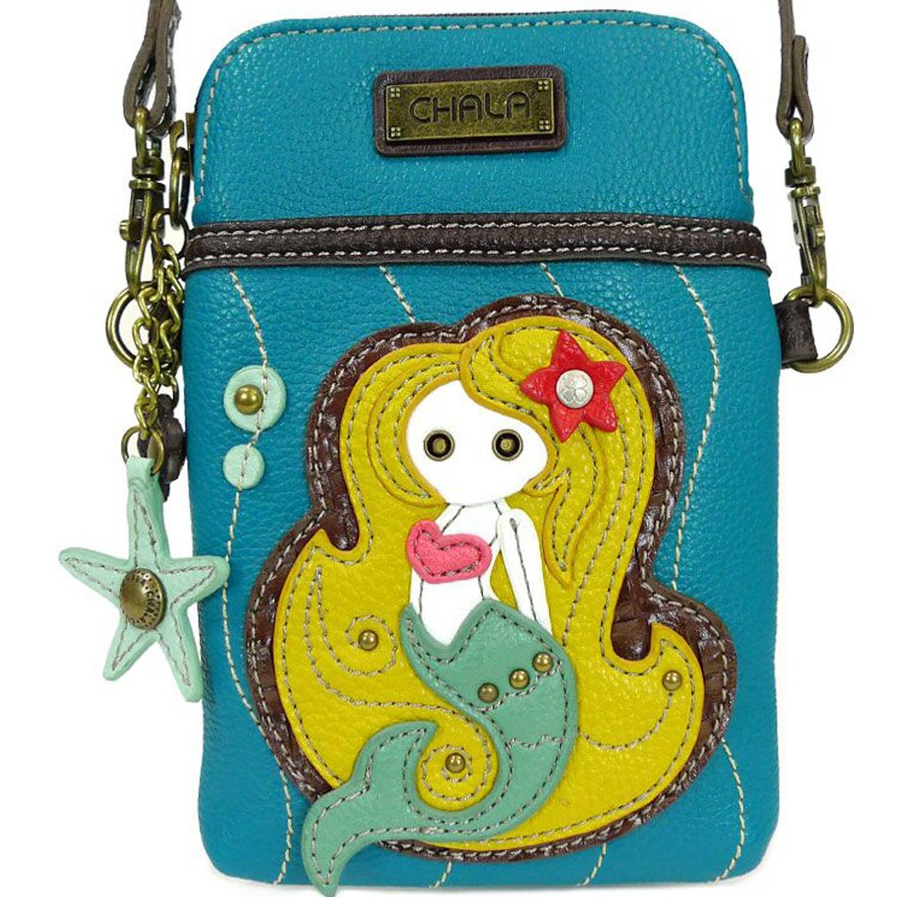 Chala Crossbody Cell Phone Purse - Women PU Leather Multicolor Handbag with Adjustable Strap - Mermaid - Blue by CHALA (Image #2)