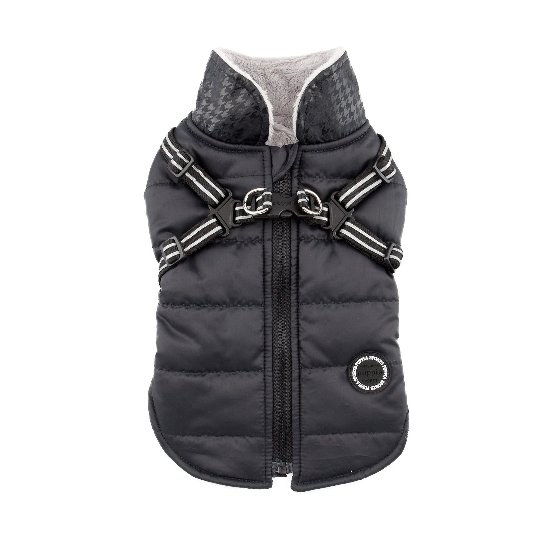 Puppia Authentic Winter Storm Winter Vest, Small, Black