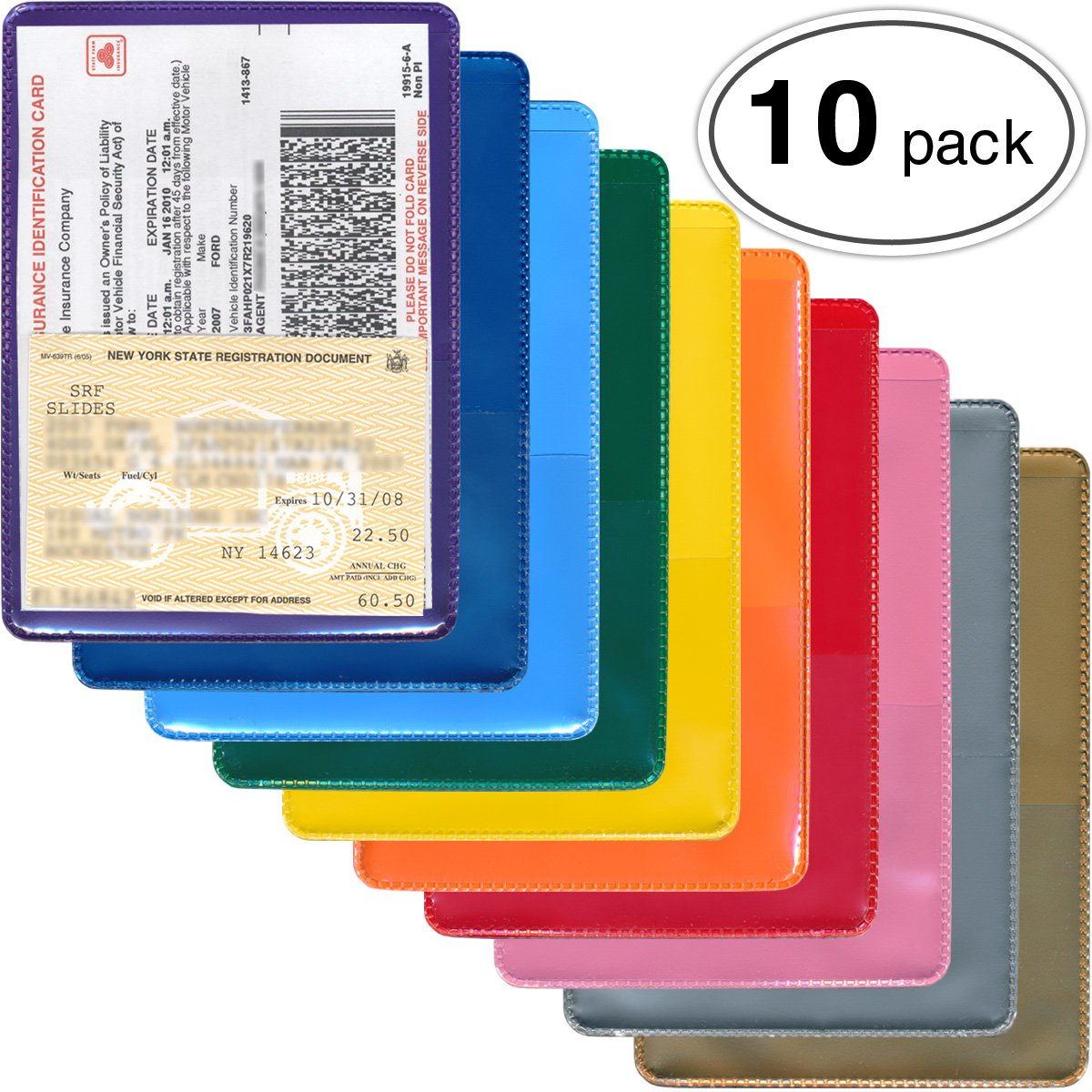 StoreSMART - Auto Insurance & ID Card Holders - Variety 10-Pack - RFS20VP