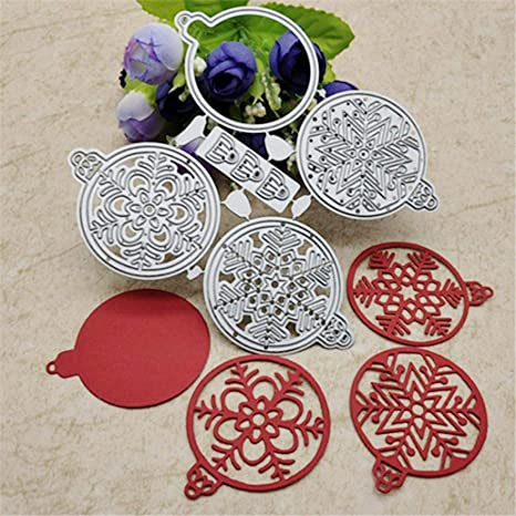 Silver Christmas Tag Round Metal Cutting Dies DIY Scrapbook Emboss Paper Cards Decor yanQxIzbiu Cutting Die