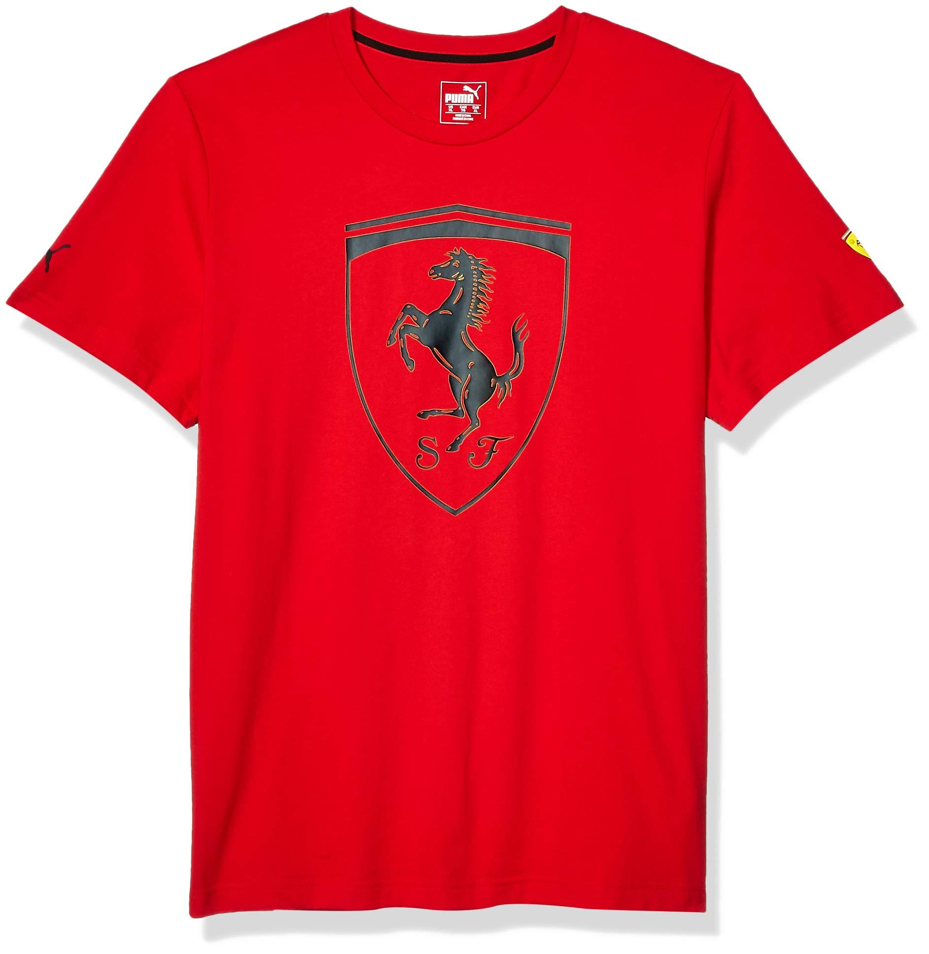 PUMA Men's Scuderia Ferrari Big Shield Tee