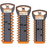 HORUSDY Handle Socket Organizer, 1/4-Inch, 3/8-Inch, 1/2-Inch, Premium Quality Socket Holders Organizers