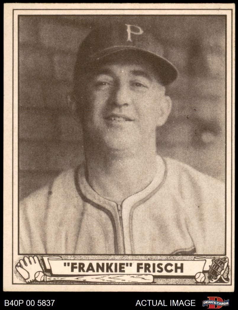 1940 spielen Ball # 167 Frankie Frisch Pittsburgh Pirates (Baseball Card) Dean'S Cards 4 - Vg/Ex Pirates
