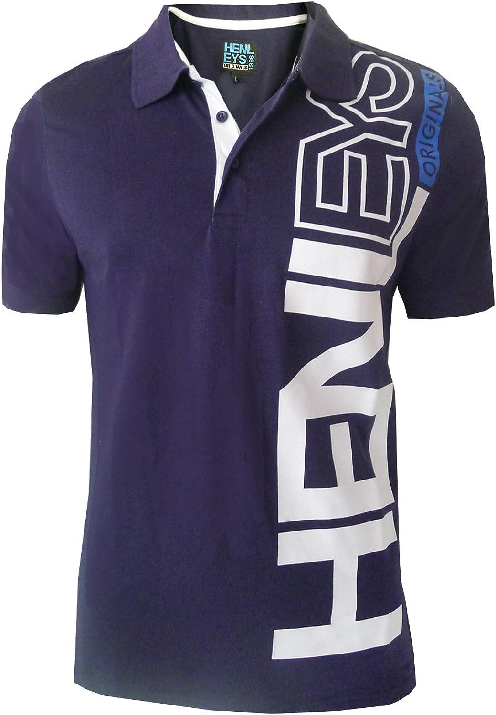 Designer Mens Henleys Hyperbolic Polo Shirt Casual Collared Pique Top Short Sleeved T Shirt