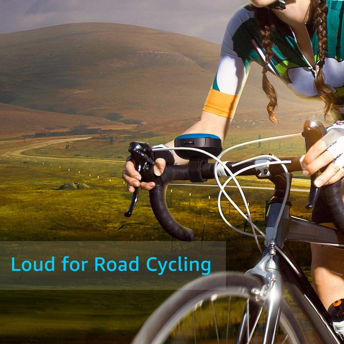 IPX7 Waterproof Olafus Bluetooth Bike Speaker with Detachable Bicycle Mount Built-in Mic 10H Playtime Bluetooth 5.0 HD Sound Shockproof Dustproof for Outdoor Riding