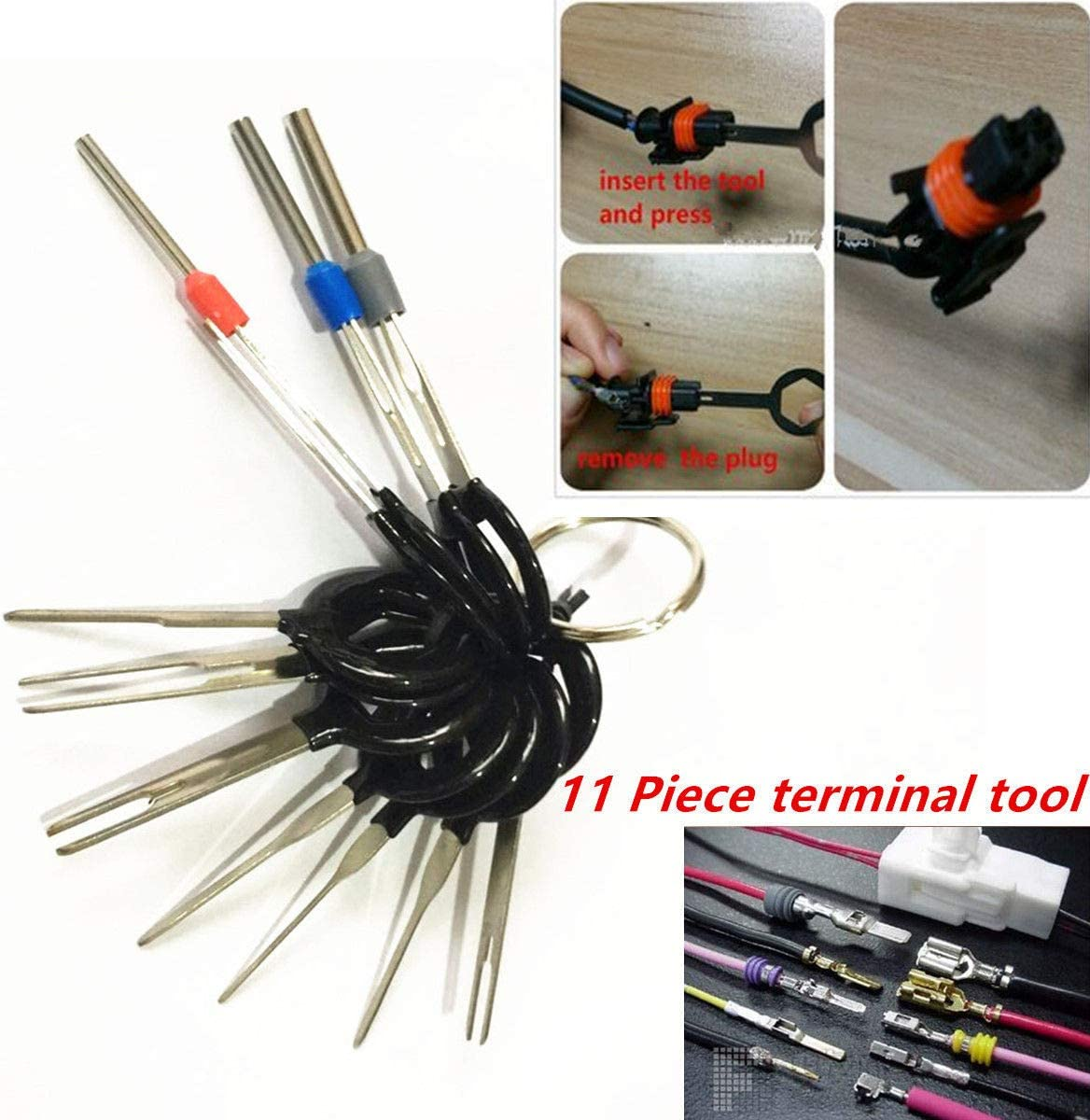 11X Car Terminal Removal Tool Wiring connector Pin Release Extractor Puller Kits