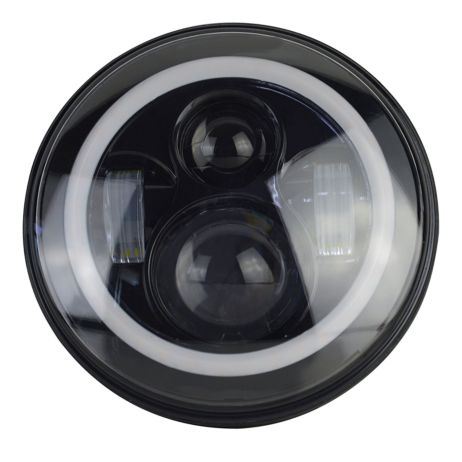 """Land Rover Defender 7"""" LED Headlights X2 E DOT Approved"""
