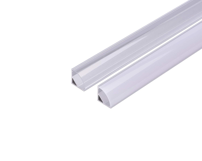 Divano Angolo 45 Gradi.Kingled 10 Pezzi Di Profilo In Alluminio Da 2 Metri Per Luci Led