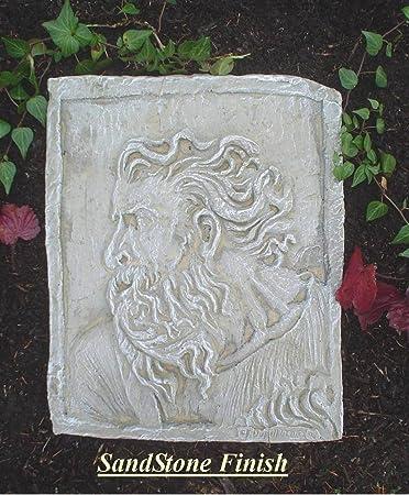 sandstone religious cast stone moses relief garden plaque decorative christmas gift sandstone shale - Garden Plaques