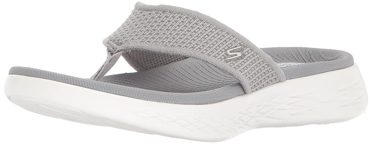 Skechers Damen on The Go 600 Sandalen  36 EU|Grau (Grey)