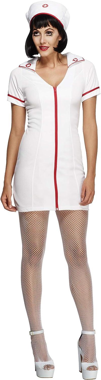 urse Front Flash Zip Hat Dress Mini Adult Hot Women Halloween Costume