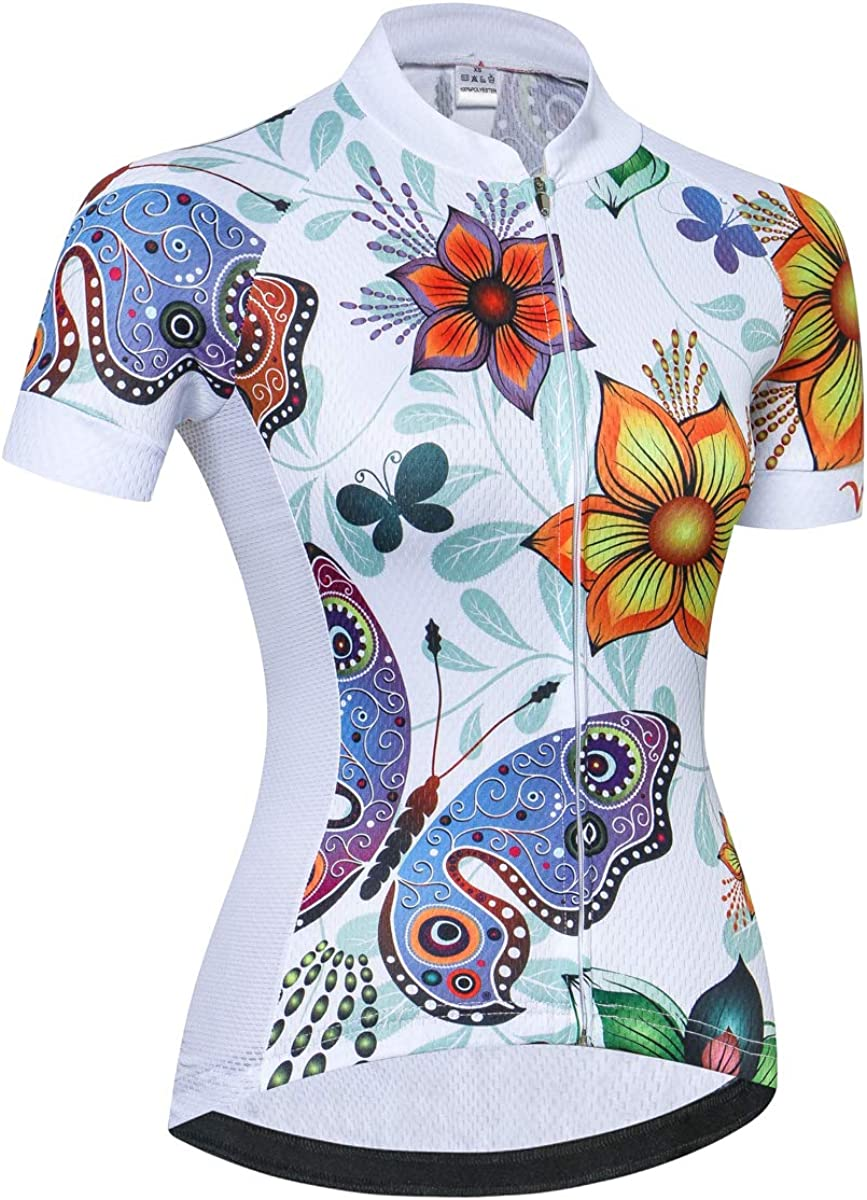 Women Cycling Jersey Shirt Short Sleeve Breathable