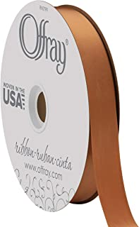"product image for Berwick Offray 7/8"" Wide Double Face Satin Ribbon, Coffee Brown, 100 Yards"