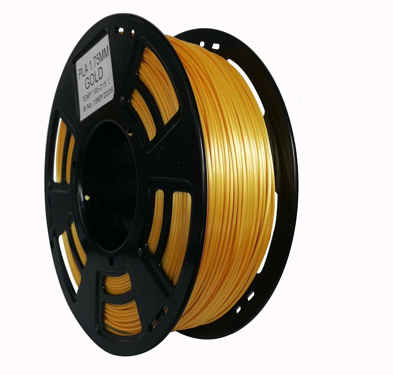 3ddplus 1,75 mm PLA 3d impresora filamento amarillo dorado Color ...