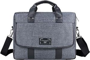 Laptop Messenger Bag 16.5 17 17.3 Inch for Men and Women, Vintage Waterproof Large Crossbody Shoulder Bag for Dell Precision 7730, Inspiron 17 7000, Inspiron 15 i15547 5003sLV, Inspiron i3531