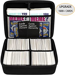 Large Game Card Holder Case for 1600 Cards, MTG Decks Box Storage Bag Fits for C. A. H/PM TCG/Magic The Gathering/Yugioh/Phase 10/ Baseball Card, Sport Cards Main Card and All Expansions