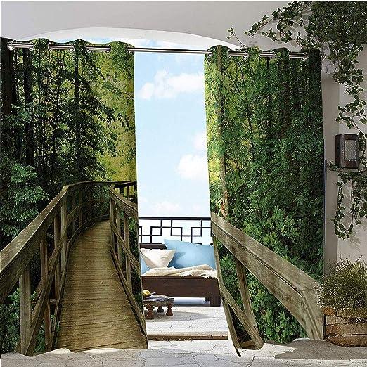 Cortina de privacidad para exteriores para Pergola, rama de árbol ...