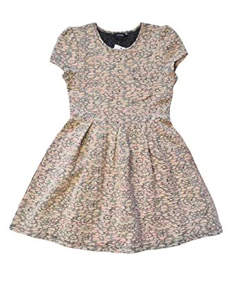 97c53e6dcc28 George Girls Skater Dress Beige Pink Party Summer Casual Dresses Age 6-13  Years  Amazon.co.uk  Clothing