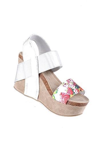 Amazoncom Hadari Womens Casual Floral Wedge Heel Sandal