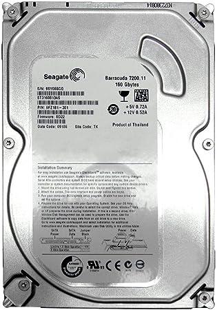 Serial ATA//300 Bulk 7200rpm Serial ATA Internal 160GB