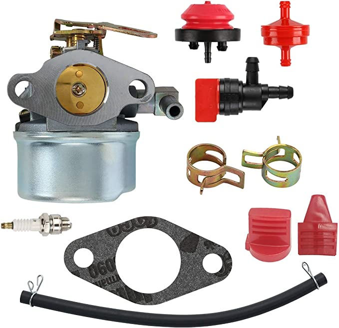 HMSK90 Snow Blower Throwers POSEAGLE 640084B Carburetor Tune-up Kits Replaces 632107 640084 640105 640299 632107A 640084A 640299A 640299B,Oregon 50-642 for Tecumseh Models HM70 HMSK80 HM80
