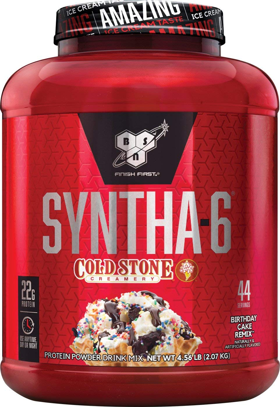 BSN Syntha 6 Whey Protein Powder Cold Stone Creamery Birthday Cake Remix Flavor