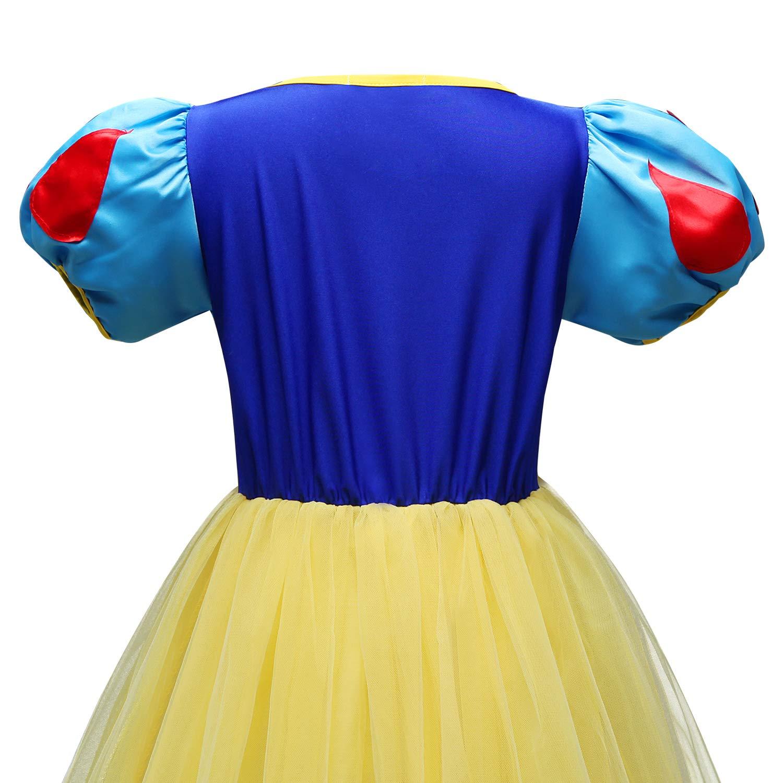 Tsyllyp Girl Snow White Coustume Princess Tutu Dress up Party Gown by Tsyllyp (Image #5)