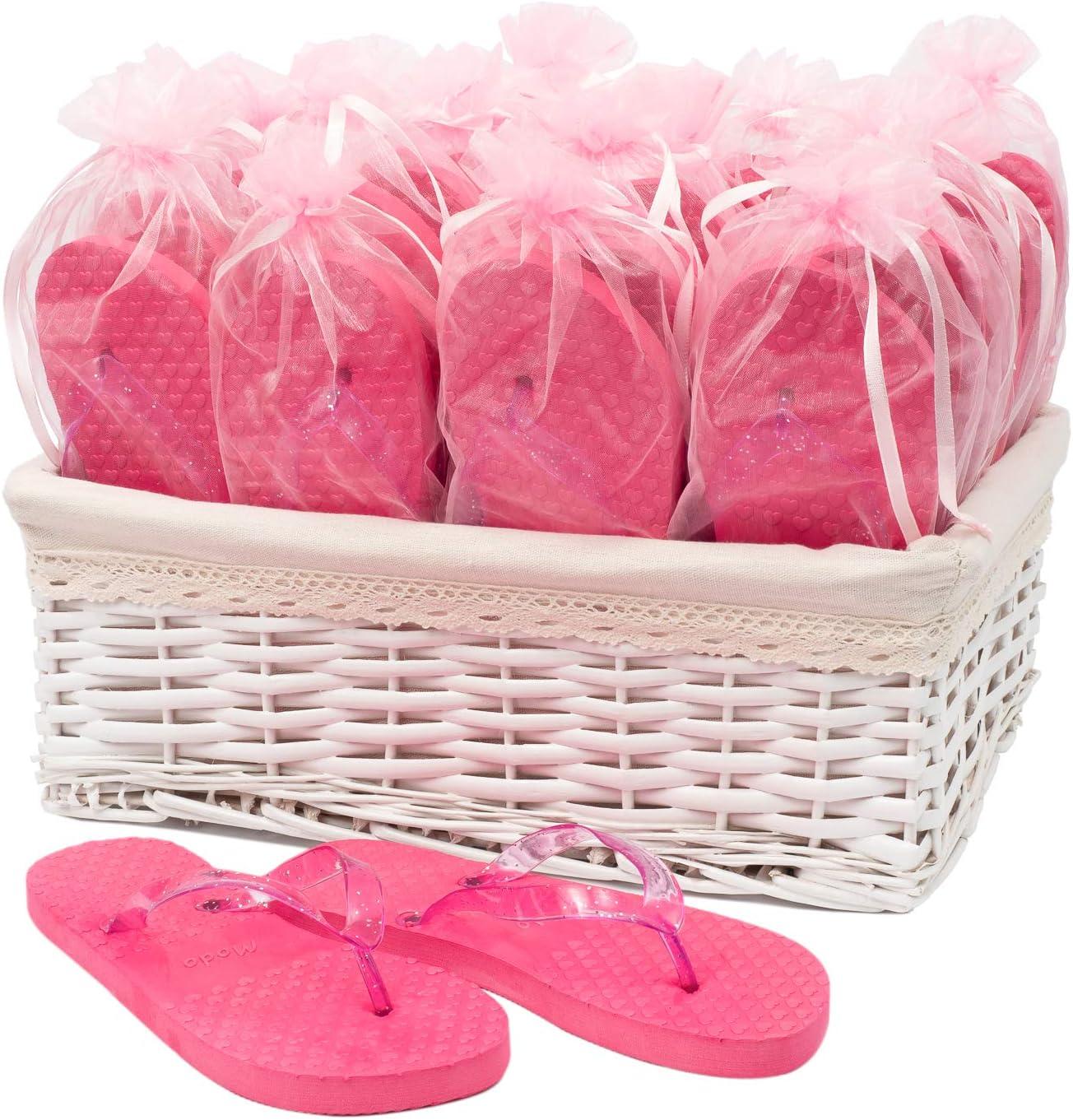 Wedding Party Pink Flip Flops