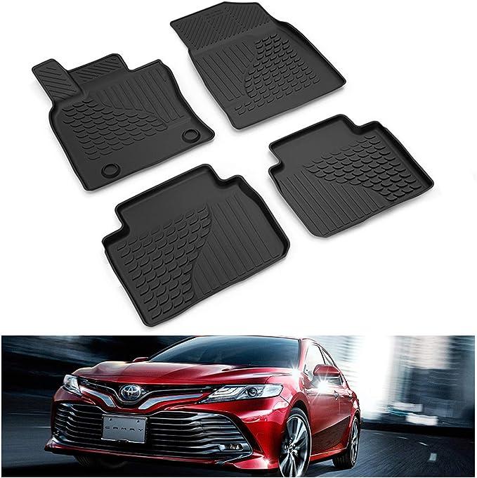 No Hybrid SMARTLINER Custom Fit Floor Mats 2 Row Liner Set Black for 2018-2019 Toyota Camry Standard Models Only
