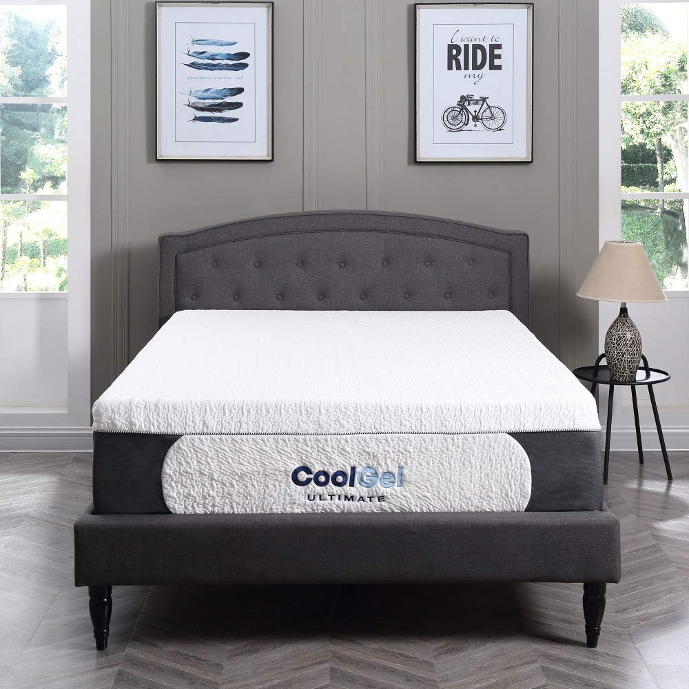 Classic Brands Cool Gel Ultimate Gel Memory Foam 14-Inch Mattress with BONUS Pillow, Twin