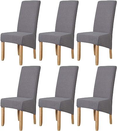 Fundas de Silla de Comedor Elásticas y Modernas,Hengweiuk Fundas para sillas Pack de 4 6 Fundas sillas Comedor Lavable Extraíble Comedor Extraíble Funda: Amazon.es: Hogar