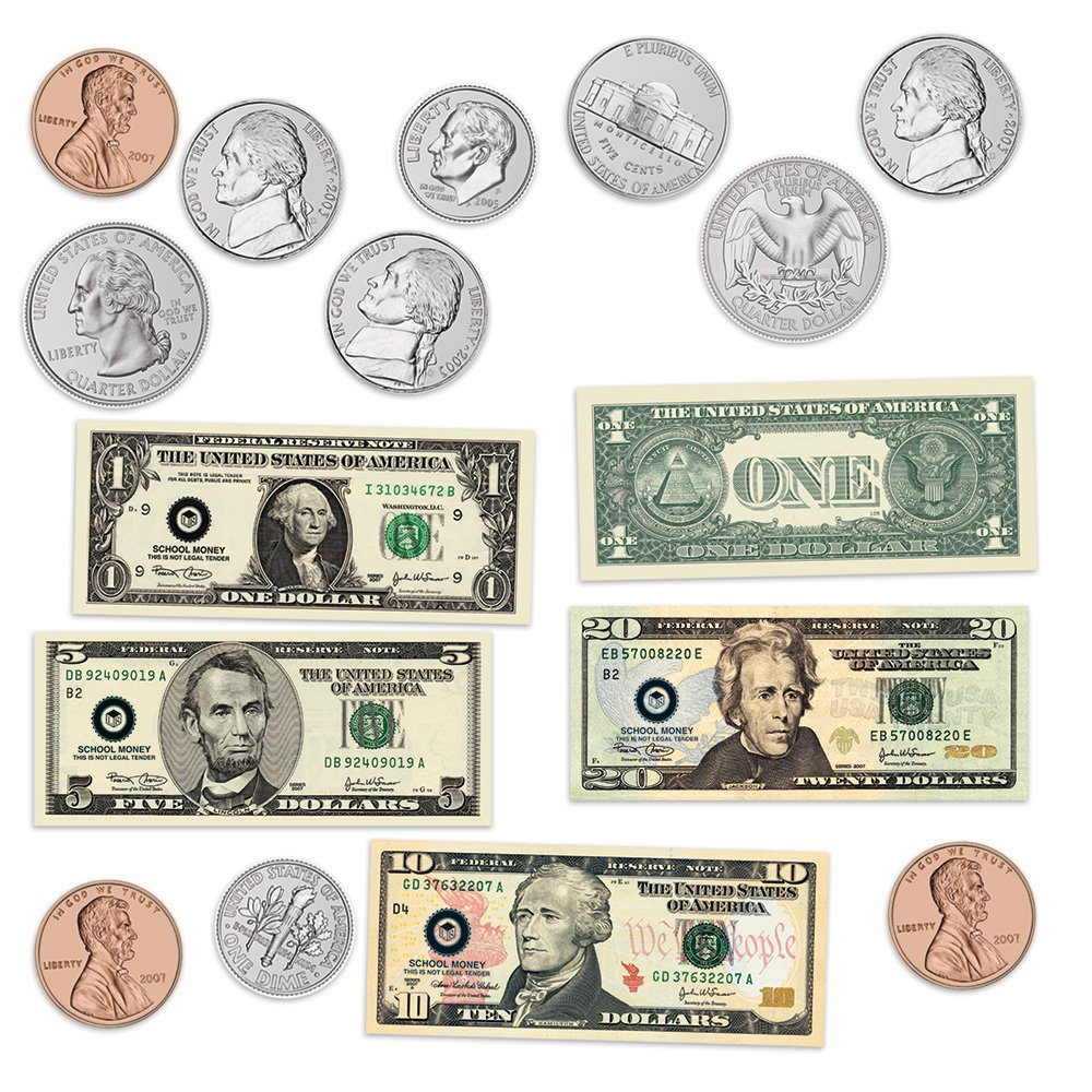 Learning Resources Double-sided Magnetic Money by Learning Resources