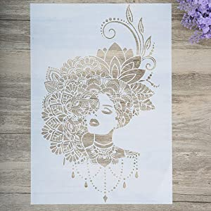DIY Decorative Beauty Stencil Template for Painting on Walls Furniture Crafts (A3 Size)