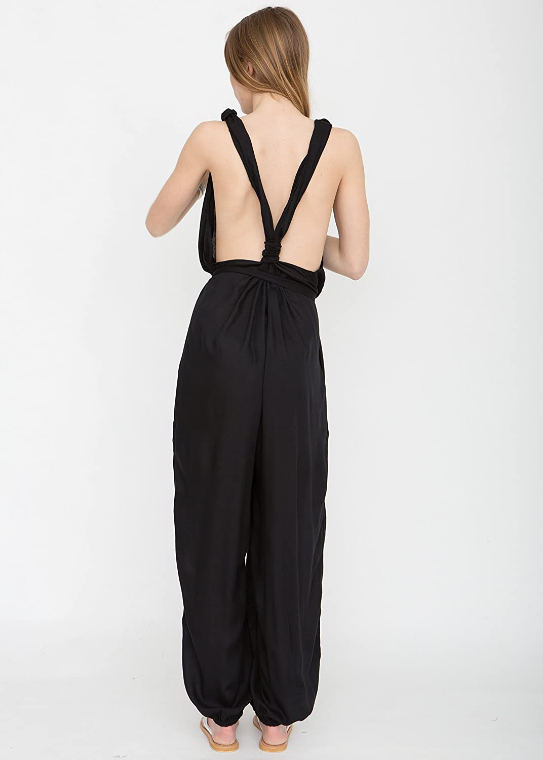 T-Back Romper Jumpsuit Black