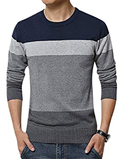 Mancave Men Round Neck Full Sleeve Ribbed Cuff Solid Color Classic Slim Sweater