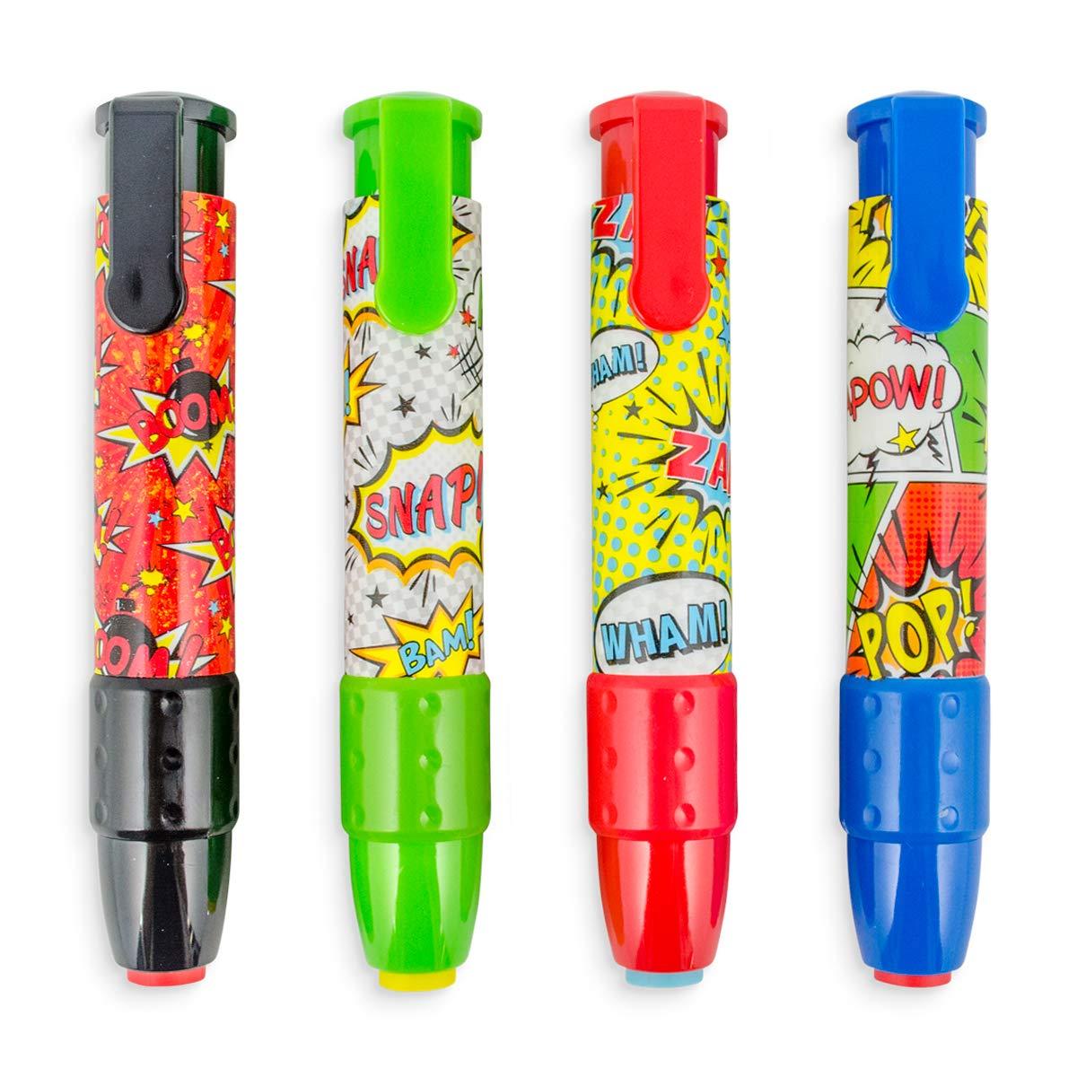 Click It Erasers Comic Attack Tub of 24