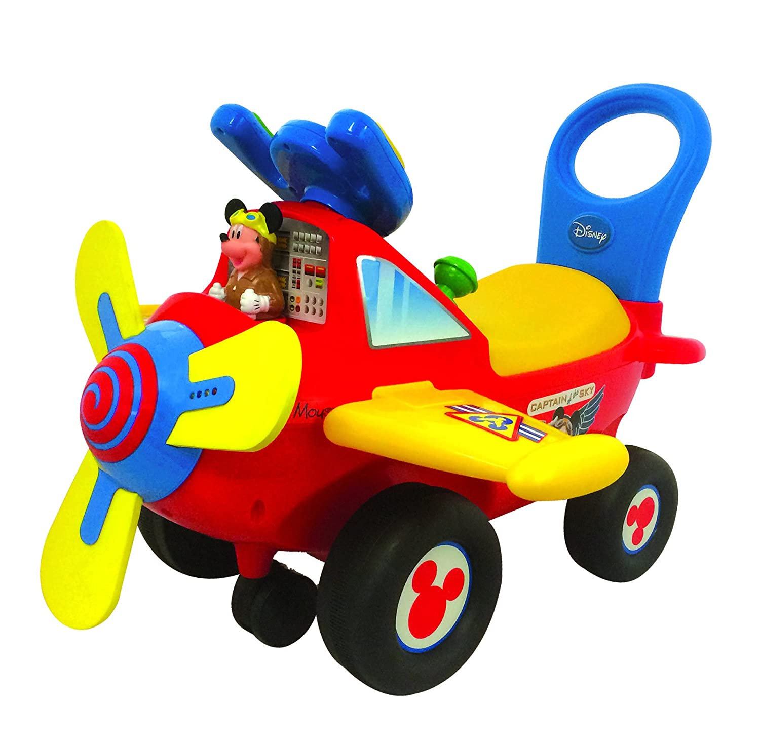 Kiddieland Disney Mickey Mouse Clubhouse Plane Light & Sound Activity Ride-On