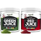 Organifi: Green Juice and Red Juice Bundle - 30 Day Supply - Superfood Supplement Powder - Supports Weight Management…
