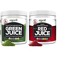 Organifi: Green Juice and Red Juice Bundle - 30 Day Supply - Superfood Supplement Powder - Supports Weight Management, Immunity, and Digestion - Powerful Anti-Aging Properties