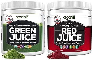 Amazon.com: Organifi: jugo verde y jugo rojo - 30 días de ...