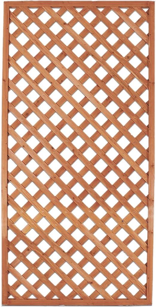 Panel de madera rectangular a red de exterior jardín Vallas ...