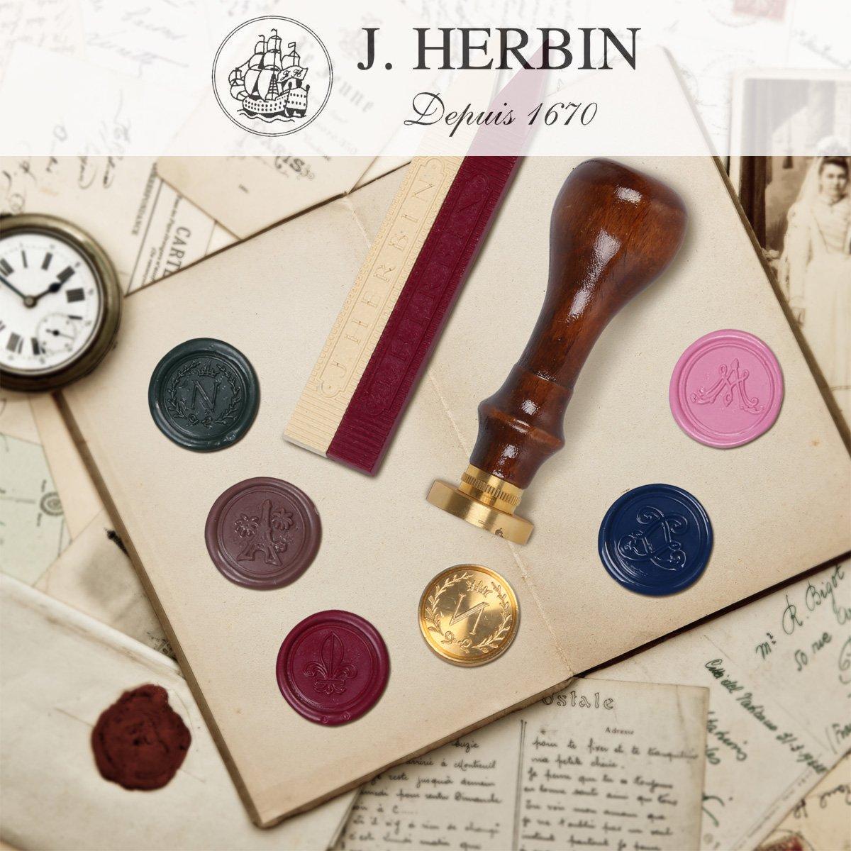 lack Siegel rot Herbin Wachssiegelset mit Schmelzlöffel für Siegelwachs oder