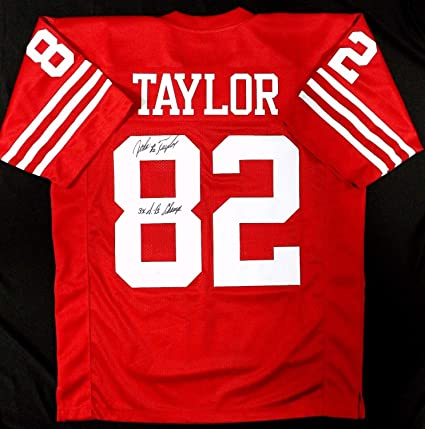 Image Unavailable. Image not available for. Color  John Taylor Autographed  Signed Pro Style Custom Red Jersey 3X Sb Champs JSA Coa - Size df71bf4eb
