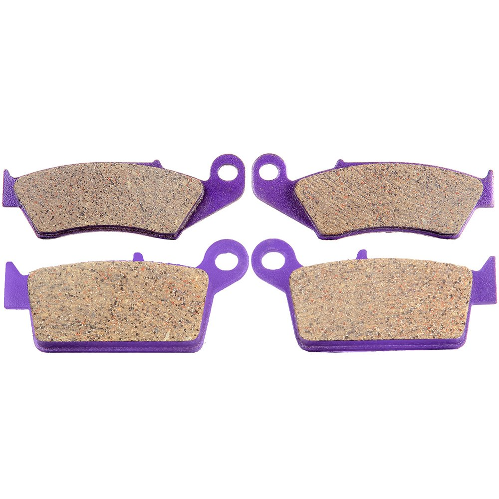 SCITOO Kevlar Craton Brake Pads Front and Rear fit Honda XR650L 1993-2009 XR600R 1993-2000