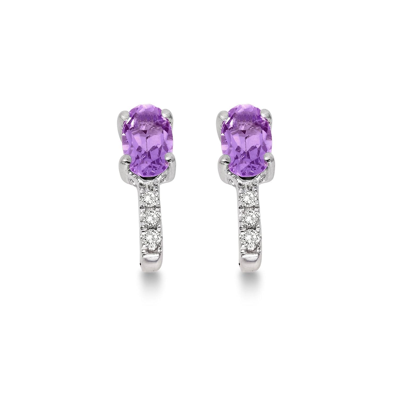 Miore Diamond Earrings 9ct White Gold Diamond Studs 0 03 carat